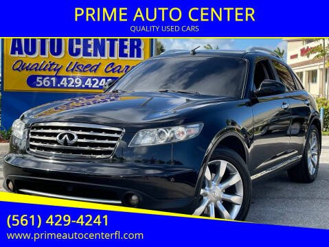 2008 Infiniti FX35 for sale at PRIME AUTO CENTER in Palm Springs FL