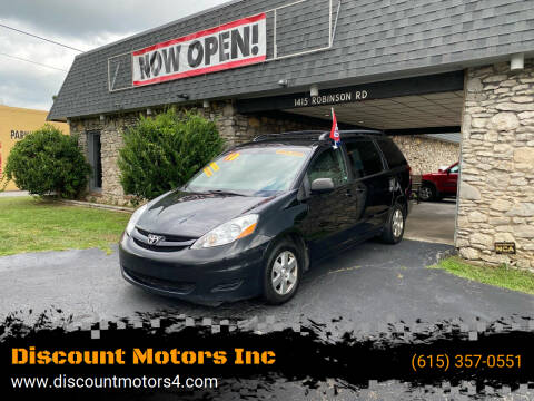 2010 Toyota Sienna for sale at Discount Motors Inc in Old Hickory TN