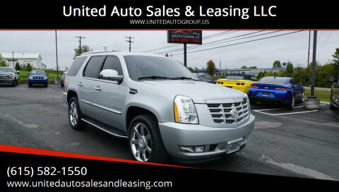 2012 Cadillac Escalade for sale at United Auto Sales & Leasing LLC in La Vergne TN