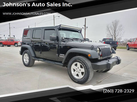 2015 Jeep Wrangler Unlimited for sale at Johnson's Auto Sales Inc. in Decatur IN