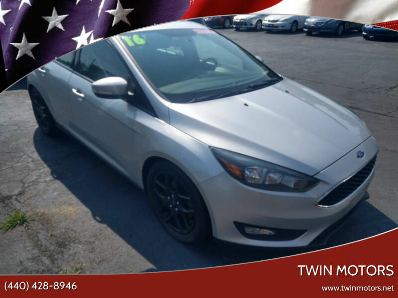 2016 Ford Focus for sale at TWIN MOTORS in Madison OH