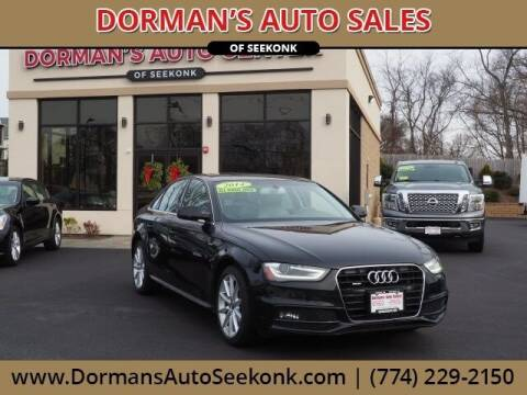 2014 Audi A4 for sale at DORMANS AUTO CENTER OF SEEKONK in Seekonk MA