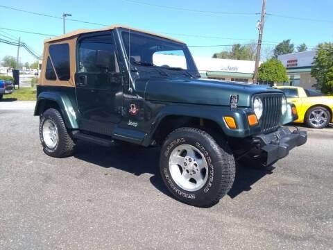 2002 Jeep Wrangler for sale at CAR FINDERS OF MARYLAND LLC in Eldersburg MD