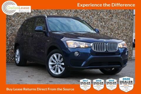 2016 BMW X3 for sale at Dallas Auto Finance in Dallas TX