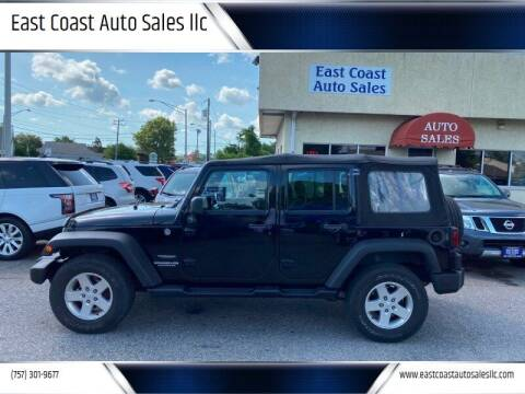 2013 Jeep Wrangler Unlimited for sale at East Coast Auto Sales llc in Virginia Beach VA