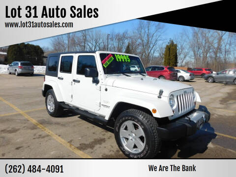 2010 Jeep Wrangler Unlimited for sale at Lot 31 Auto Sales in Kenosha WI