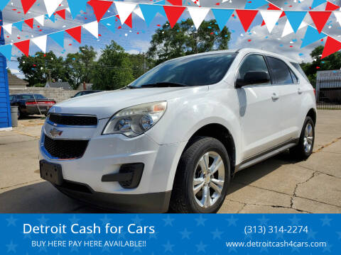 2011 Chevrolet Equinox for sale at Detroit Cash for Cars in Warren MI