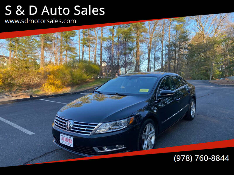 2013 Volkswagen CC for sale at S & D Auto Sales in Maynard MA