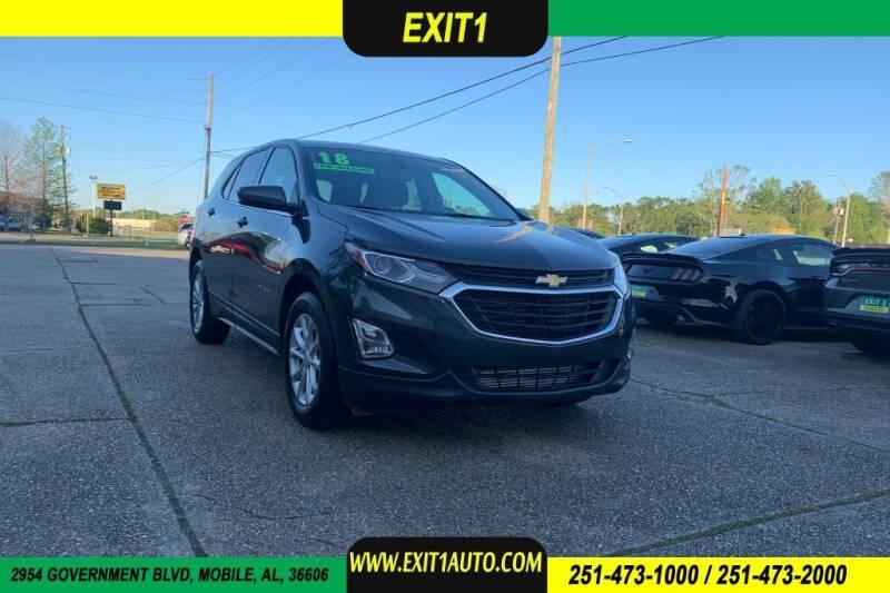 2018 Chevrolet Equinox for sale at Exit 1 Auto in Mobile AL