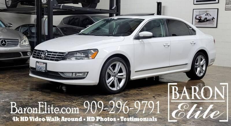 2013 Volkswagen Passat for sale at Baron Elite in Upland CA