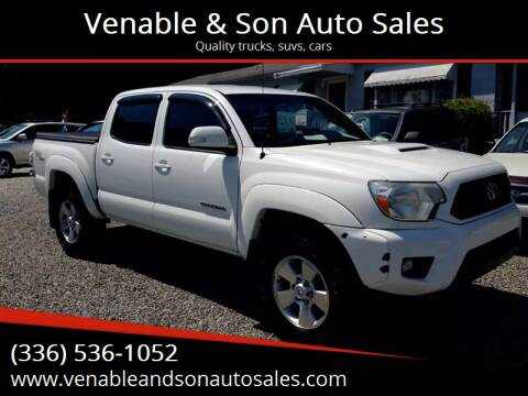 2012 Toyota Tacoma for sale at Venable & Son Auto Sales in Walnut Cove NC