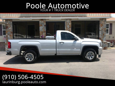 2018 GMC Sierra 1500 for sale at Poole Automotive in Laurinburg NC