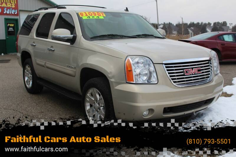 2008 GMC Yukon for sale at Faithful Cars Auto Sales in North Branch MI