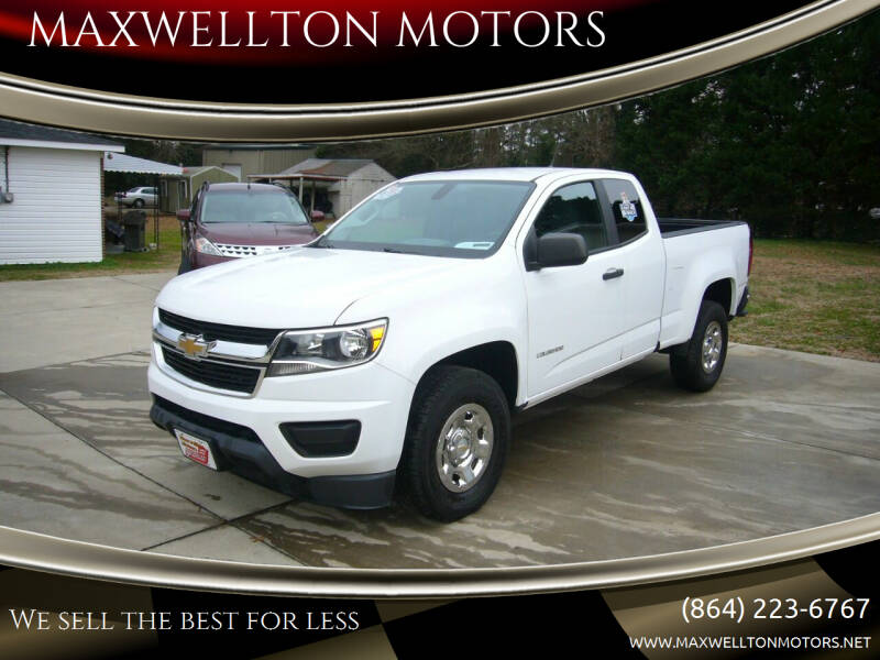 2016 Chevrolet Colorado for sale at MAXWELLTON MOTORS in Greenwood SC