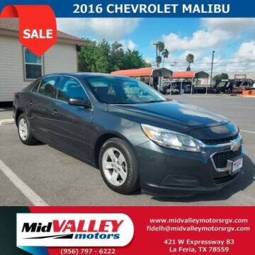 2016 Chevrolet Malibu Limited for sale at Mid Valley Motors in La Feria TX
