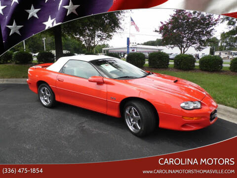 1999 Chevrolet Camaro for sale at CAROLINA MOTORS - Carolina Classics & More-Thomasville in Thomasville NC