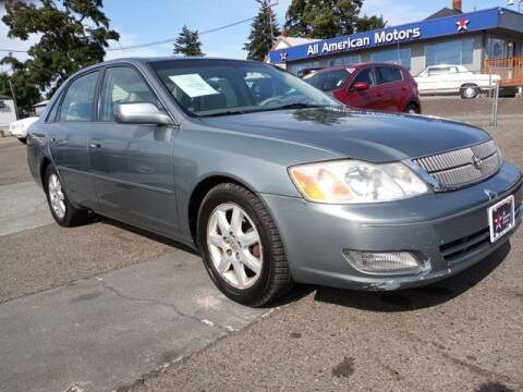 2000 Toyota Avalon for sale at All American Motors in Tacoma WA