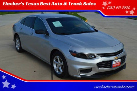 2018 Chevrolet Malibu for sale at Fincher's Texas Best Auto & Truck Sales in Tomball TX
