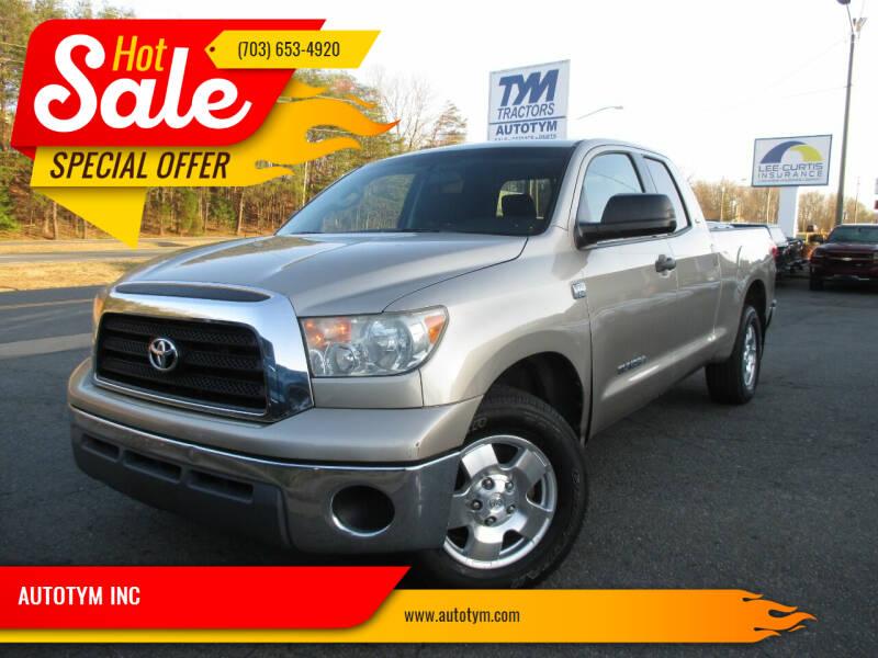 2007 Toyota Tundra for sale at AUTOTYM INC in Fredericksburg VA