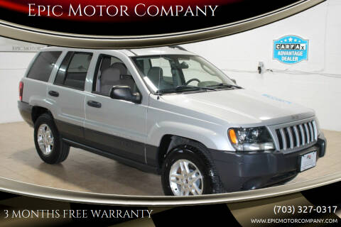 2004 Jeep Grand Cherokee for sale at Epic Motor Company in Chantilly VA