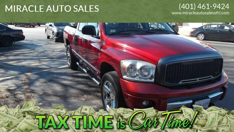 2007 Dodge Ram Pickup 1500 for sale at MIRACLE AUTO SALES in Cranston RI