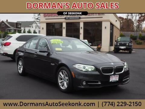 2015 BMW 5 Series for sale at DORMANS AUTO CENTER OF SEEKONK in Seekonk MA
