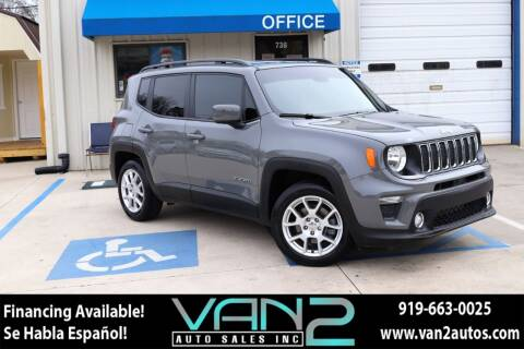 2019 Jeep Renegade for sale at Van 2 Auto Sales Inc in Siler City NC
