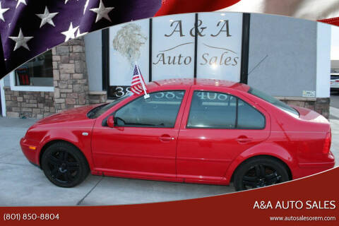 2003 Volkswagen Jetta for sale at A&A Auto Sales in Orem UT