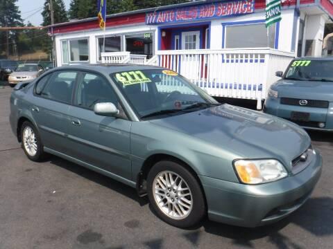 2003 Subaru Legacy for sale at 777 Auto Sales and Service in Tacoma WA