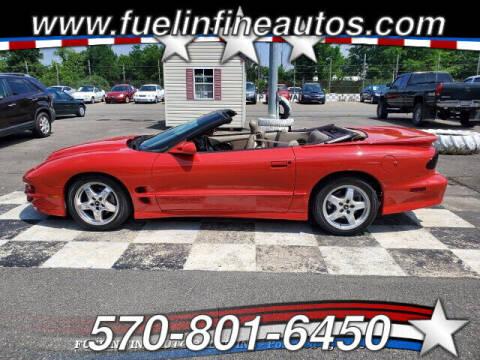 2001 Pontiac Firebird for sale at FUELIN FINE AUTO SALES INC in Saylorsburg PA