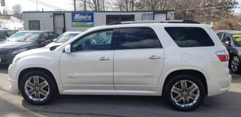 2011 GMC Acadia for sale at Howe's Auto Sales in Lowell MA