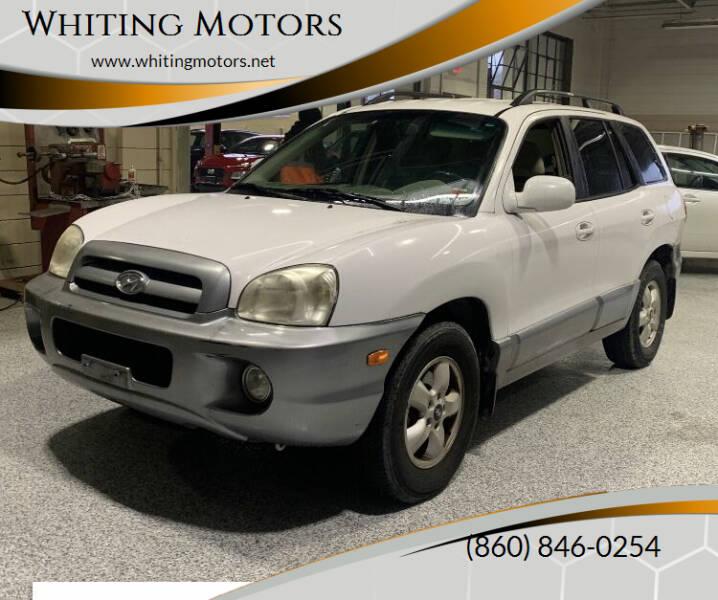 2006 Hyundai Santa Fe for sale at Whiting Motors in Plainville CT