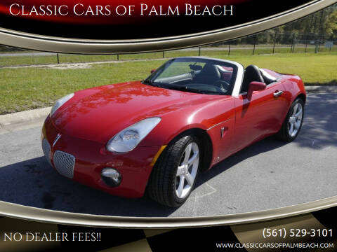 2006 Pontiac Solstice for sale at Classic Cars of Palm Beach in Jupiter FL