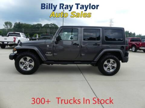 2016 Jeep Wrangler Unlimited for sale at Billy Ray Taylor Auto Sales in Cullman AL