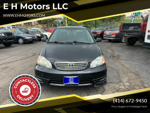 2008 Toyota Corolla for sale at E H Motors LLC in Milwaukee WI