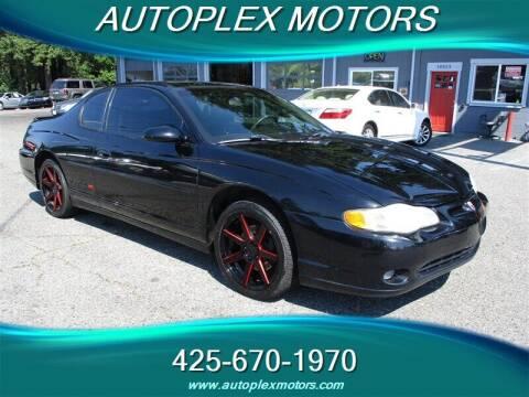 2002 Chevrolet Monte Carlo for sale at Autoplex Motors in Lynnwood WA