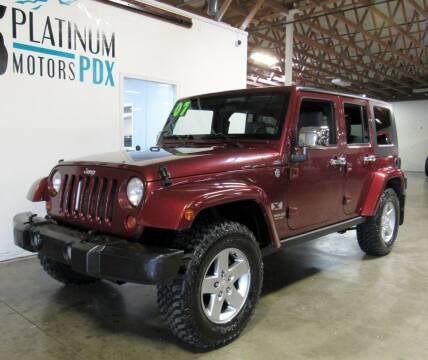 2007 Jeep Wrangler Unlimited for sale at Platinum Motors in Portland OR