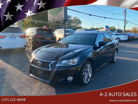 2014 Lexus GS 350 for sale at A-Z Auto Sales in Newport News VA