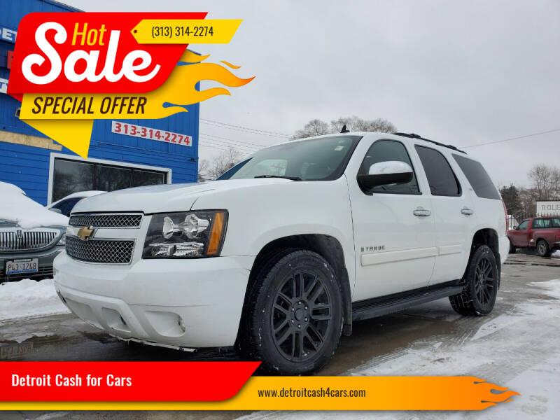 2008 Chevrolet Tahoe for sale at Detroit Cash for Cars in Warren MI
