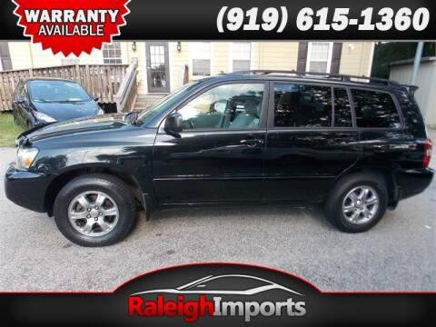 2004 Toyota Highlander for sale at Raleigh Imports in Raleigh NC