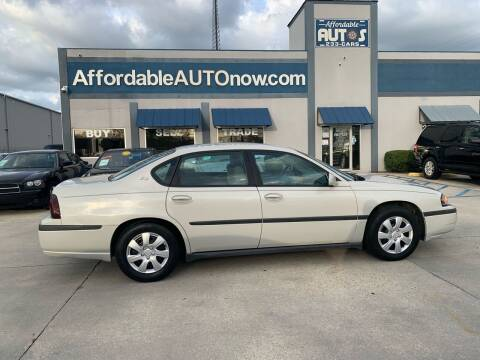 2003 Chevrolet Impala for sale at Affordable Autos in Houma LA