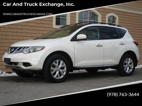 2012 Nissan Murano for sale at Car and Truck Exchange, Inc. in Rowley MA