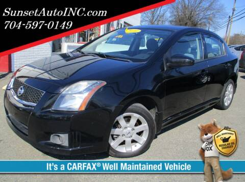 2010 Nissan Sentra for sale at Sunset Auto in Charlotte NC