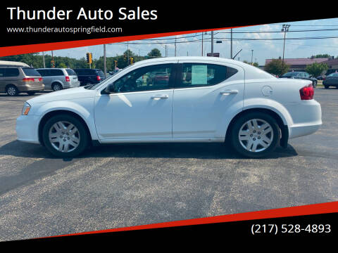 2013 Dodge Avenger for sale at Thunder Auto Sales in Springfield IL