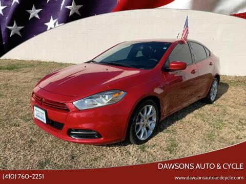 2013 Dodge Dart for sale at Dawsons Auto & Cycle in Glen Burnie MD