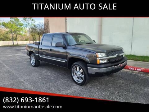2005 Chevrolet Silverado 1500 for sale at TITANIUM AUTO SALE in Houston TX