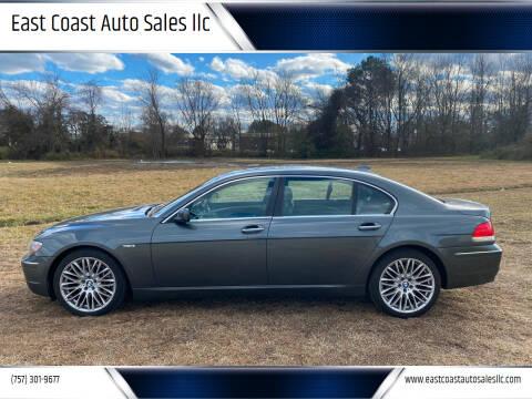 2007 BMW 7 Series for sale at East Coast Auto Sales llc in Virginia Beach VA