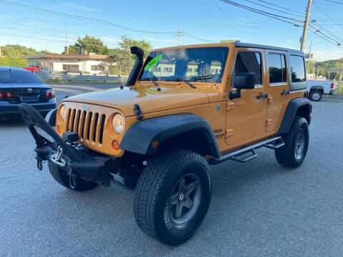 2012 Jeep Wrangler Unlimited for sale at 222 Newbury Motors in Peabody MA