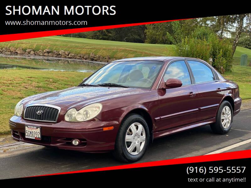 2004 Hyundai Sonata for sale at SHOMAN MOTORS in Davis CA