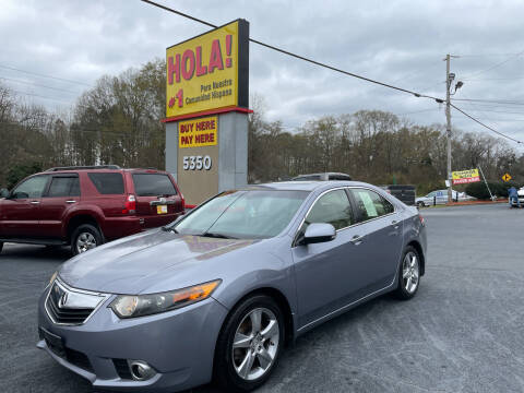 2012 Acura TSX for sale at No Full Coverage Auto Sales in Austell GA